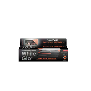 White Glo Pasta Charcoal Deep Stain Remover 150g